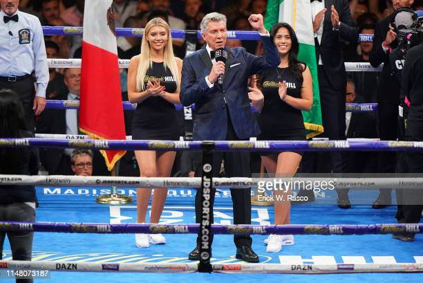 IBF / IBO / WBA / WBO Heavyweight Title Ring announcer Michael Buffer before Andy Ruiz Jr vs Anthony Joshua fight at Madison Square Garden New York...