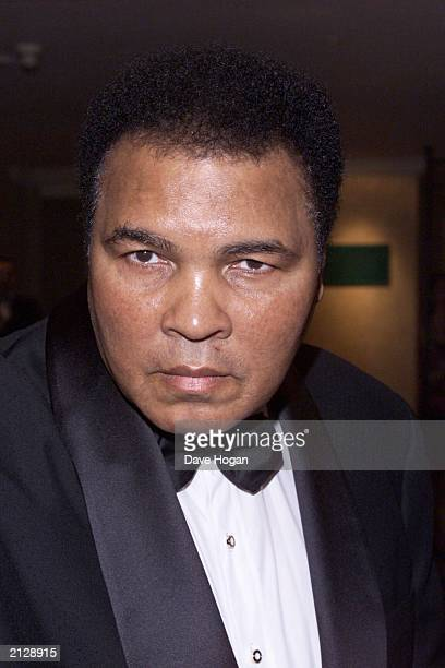 Boxing icon Muhammad Ali celebrates his 59th birthday at a private party held in his honour at the Hilton Hotel in Park Lane London on January 15...