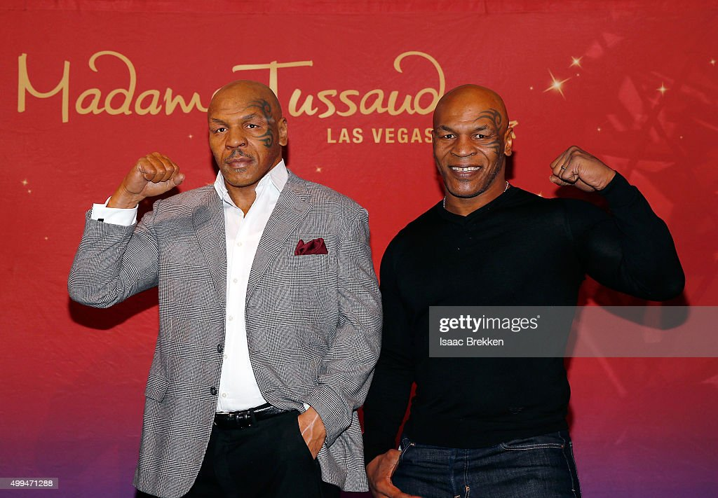 Boxing legend and entertainer Mike Tyson, who played a role in Warner Bros. Pictures popular comedy trilogy 'The Hangover,' unveils his first Madame Tussauds wax figure which will be featured in The Hangover Experience at Madame Tussauds Las Vegas at Venetian Las Vegas on December 1, 2015 in Las Vegas, Nevada.