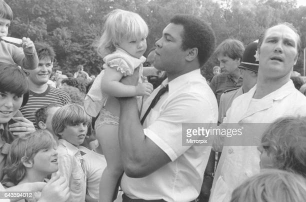 Boxing legend Muhammad Ali visited Coventry and was greeted by astonishing scenes of adulation Seen here at exboxer Jack Bodell's fish and chip shop...