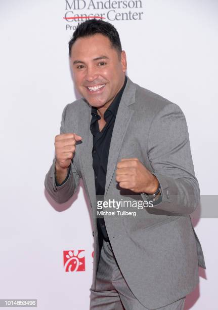 Boxing legend Oscar De La Hoya attends the 18th Annual Harold and Carole Pump Foundation Gala at The Beverly Hilton Hotel on August 10 2018 in...