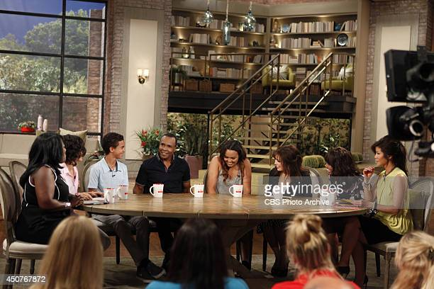 Boxing legend Sugar Ray Leonard and his children visit the ladies of THE TALK for Who's Your Daddy week Tuesday June 10 2014 on the CBS Television...