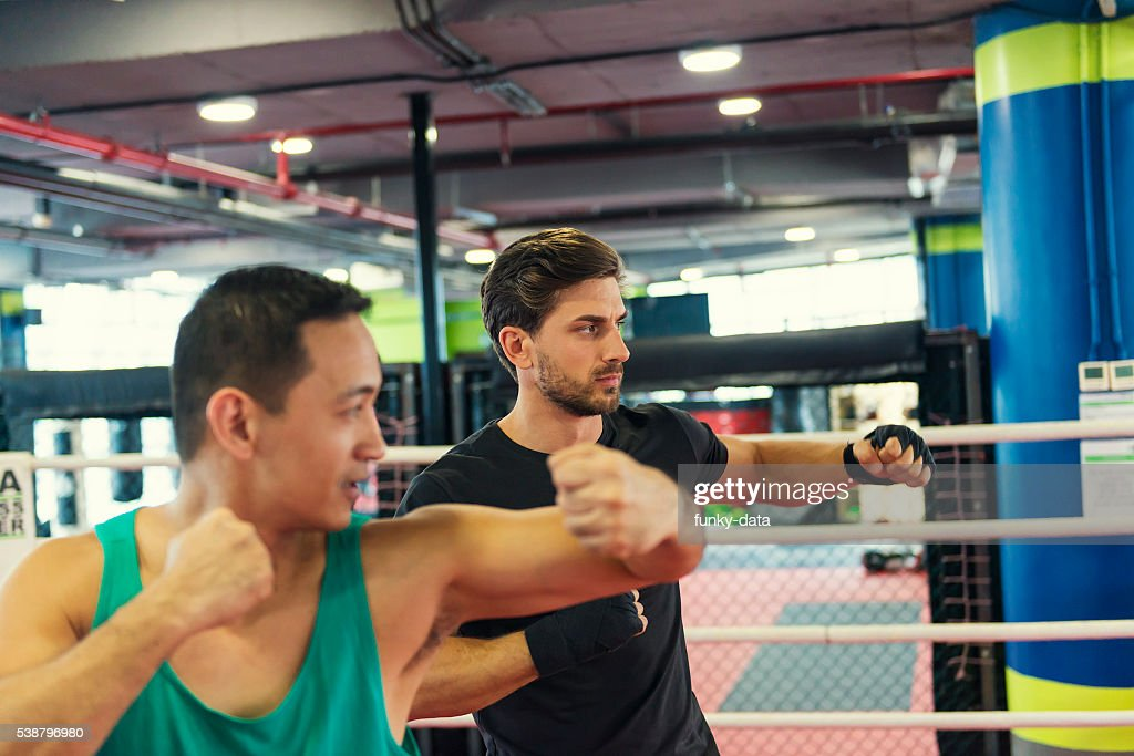 Boxing lesson fitness : Stock Photo
