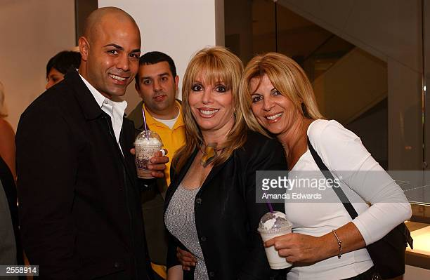 Boxing manager Jackie Kallen poses with boxer Tarick Salmaci and Malka Winshman at the Knockout Preview Party hosted by Jackie Kallen and Neissing...