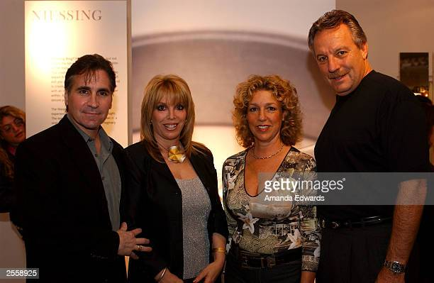 Boxing manager Jackie Kallen poses with her boyfriend Gary Baldassarre and Candi and Tim Olit at the Knockout Preview Party hosted by Jackie Kallen...