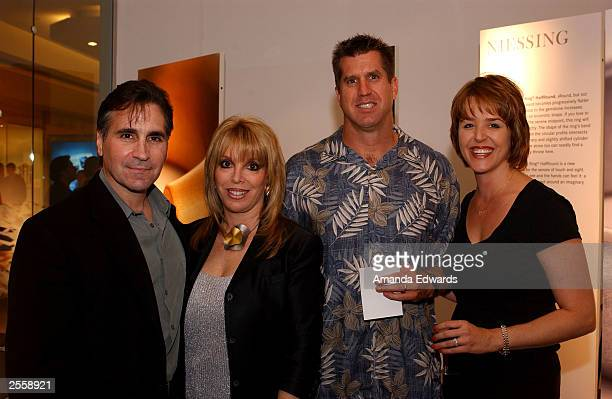 Boxing manager Jackie Kallen poses with her boyfriend Gary Baldassarre and Dave and Lexi Bursin at the Knockout Preview Party hosted by Jackie Kallen...