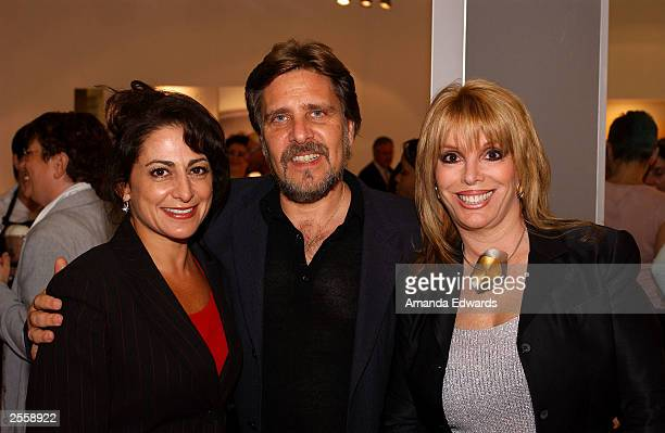 Boxing manager Jackie Kallen poses with Lori Shapiro and Perry Katz at the Knockout Preview Party hosted by Jackie Kallen and Neissing Jewelry in the...