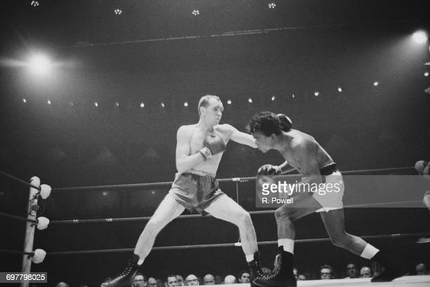 A boxing match between Maurice Cullen and Angel Robinson Garcia at the Royal Albert Hall in London 22nd February 1966