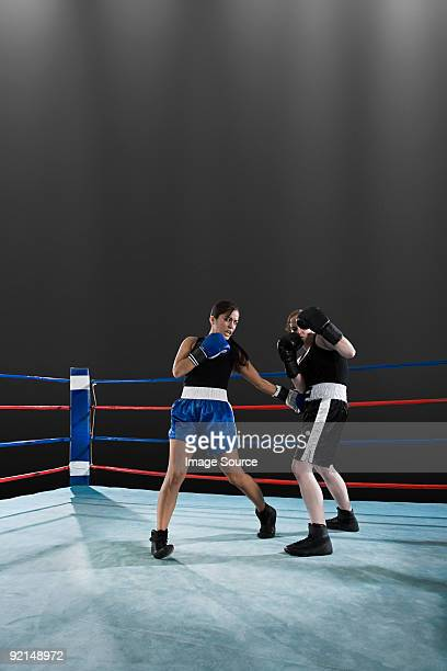 boxing match - mixed boxing stock photos and pictures