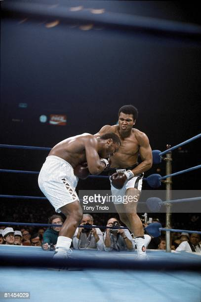 Boxing NABF Heavyweight Title Muhammad Ali in action vs Joe Frazier at Madison Square Garden New York NY 1/28/1974