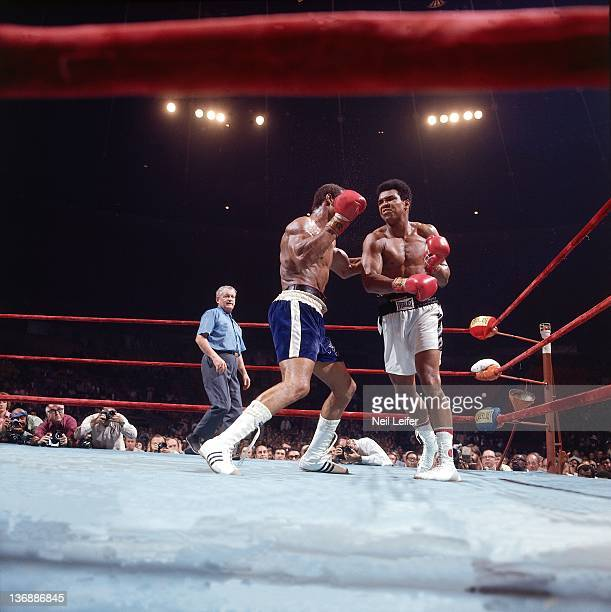 Boxing NABF Heavyweight Title Muhammad Ali in action vs Ken Norton during fight at The Forum Inglewood CA 9/10/1973 CREDIT Neil Leifer