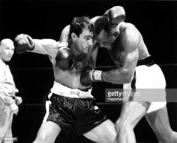 Boxing Philadelphia USA 25th September American heavyweight boxer Rocky Marciano on his way to wrestling the World Heavyweight championship from...