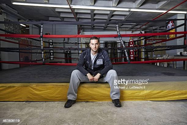 Portrait of Elite Boxing Enterprises president AJ Galante during photo shoot at Starrett City Boxing Club AJ now a professional boxing manager was...