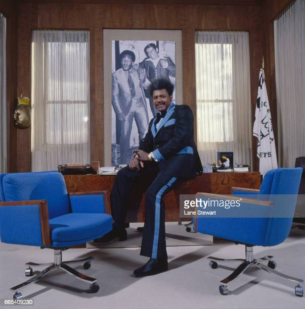 Portrait of promoter Don King posing during photo shoot in his office. New York, NY 12/9/1976 CREDIT: Lane Stewart