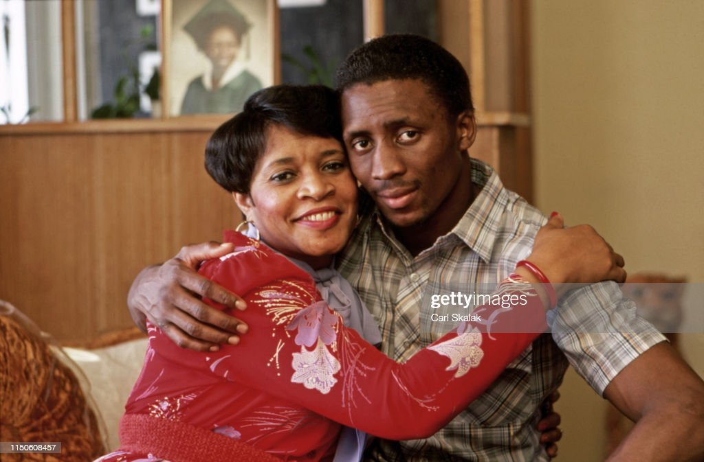 Photo of Thomas Hearns  & his  Mother  Lois Hearns