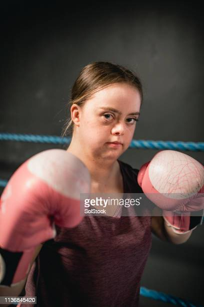 boxing portrait - disabilitycollection stock pictures, royalty-free photos & images