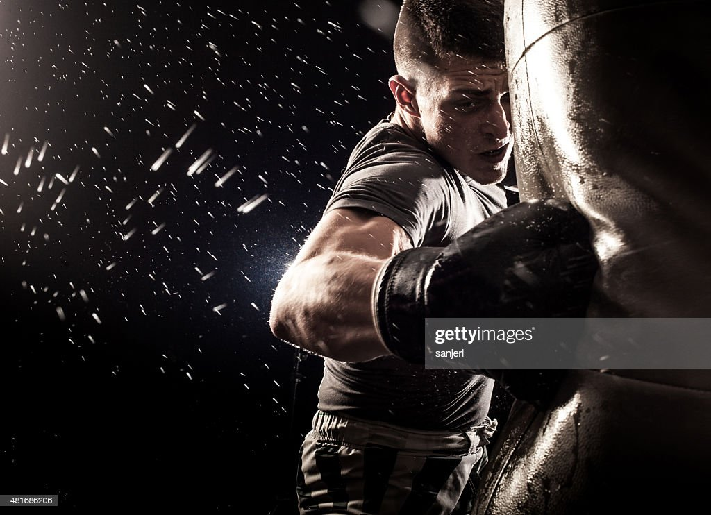 Boxing power : Stock Photo