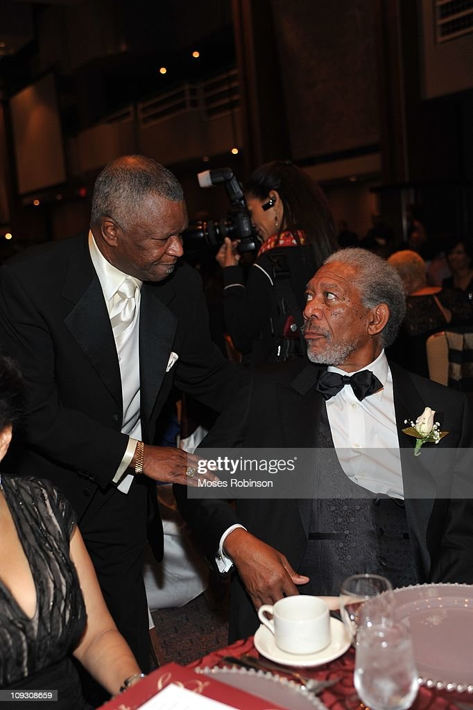 Boxing Promoter Butch Lewis and actor Morgan Freeman attend the 23rd Annual 'A Candle in the Dark' Gala at the Hyatt Regency on February 19, 2011 in Atlanta, Georgia.