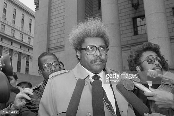 Boxing promoter Don King holds a press conference with Reverend Al Sharpton
