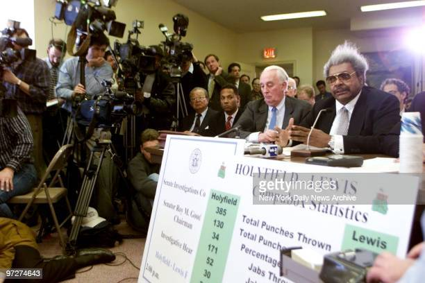 Boxing promoter Don King testifies at New York State Senate hearing on the Evander Holyfield Lennox Lewis fight