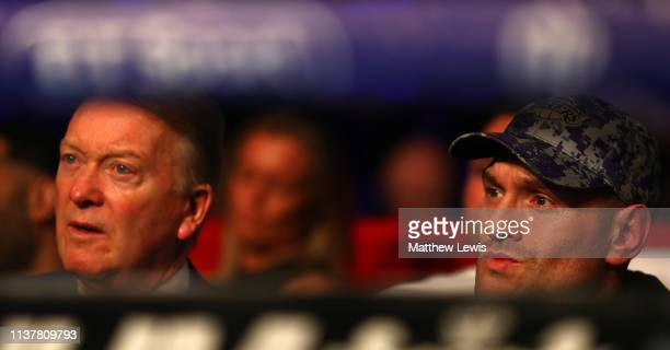 Boxing promoter Frank Warren and Heavyweight boxer Tyson Fury pictured together at Morningside Arena on March 23, 2019 in Leicester, England.