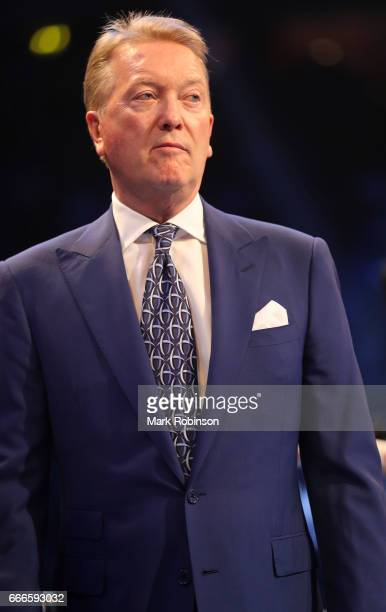 Boxing Promoter Frank Warren at Manchester Arena on April 8 2017 in Manchester England