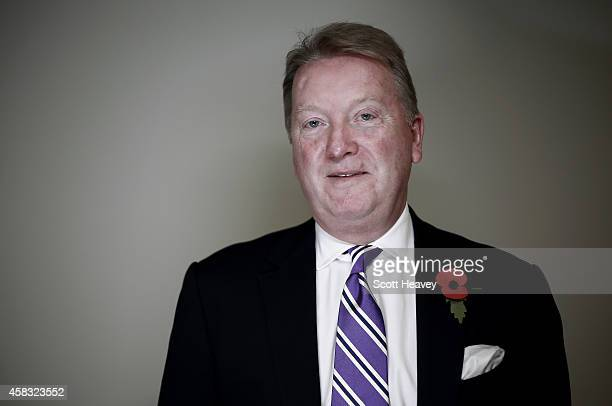 Boxing promoter Frank Warren during a press conference at London ExCel on November 3 2014 in London England