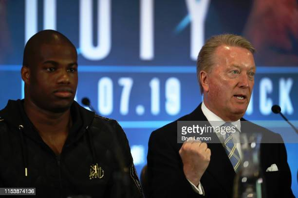 Boxing Promoter Frank Warren talks to the media in a press conference on June 05 2019 in London England