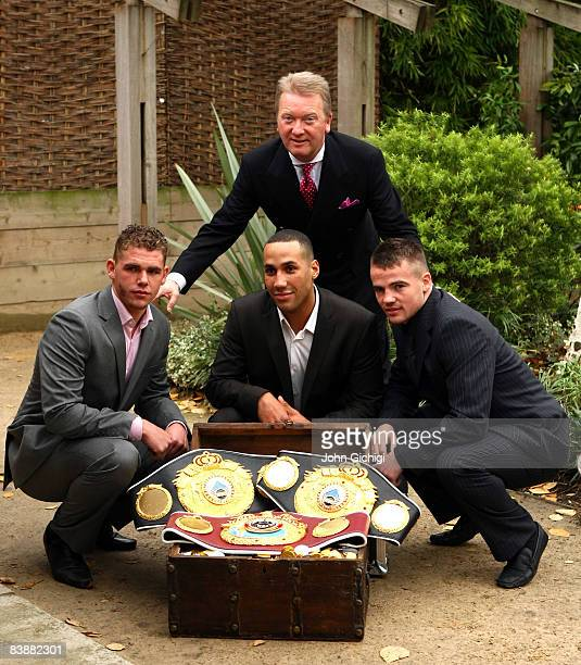 Boxing Promoter Frank Warren unveils his new signings to the professional boxing ranks Billy Joe Saunders Olympic gold medalist James Degale and...