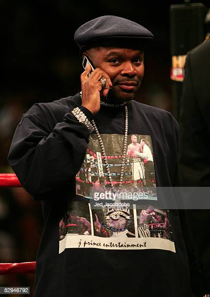 Boxing promoter James Prince of J Prince Entertainment in the ring before the fight between Winky Wright and Felix Tito Trinidad at the MGM Grand...