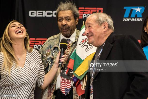 Boxing promoters Bob Arum and Don King during the Amir Imam vs Jose Ramirez weighin conference at Madison Square Garden on March 16 2018 in New York...