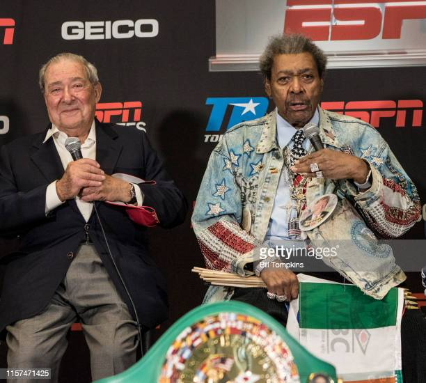 Boxing promoters Bob Arum and Don King host the Final Press Conference for the Jose Ramirez vs Amir Imam Super Lightweight fight at Madison Square...