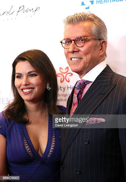 Boxing ring announcer Michael Buffer and Christine Buffer attend 16th Annual Harold and Carole Pump Foundation Gala at The Beverly Hilton Hotel on...