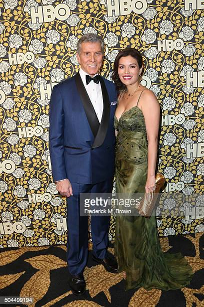 Boxing ring announcer Michael Buffer and Christine Buffer attend HBO's Post 2016 Golden Globe Awards Party at Circa 55 Restaurant on January 10 2016...