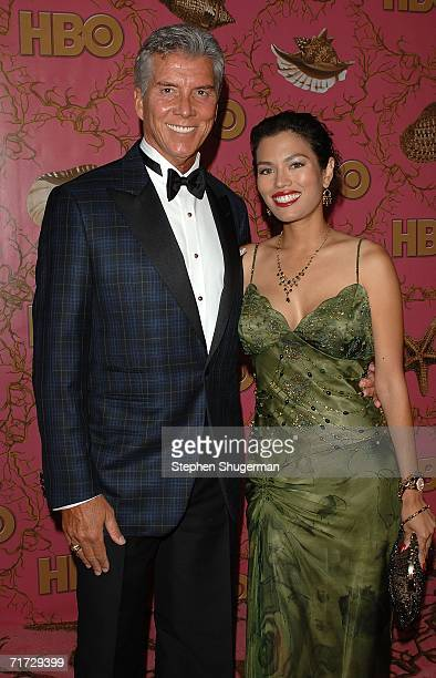 Boxing Ring announcer Michael Buffer and Christine Prado arrive at the HBO Post Emmy Party held at The Plaza at the Pacific Design Center on August...