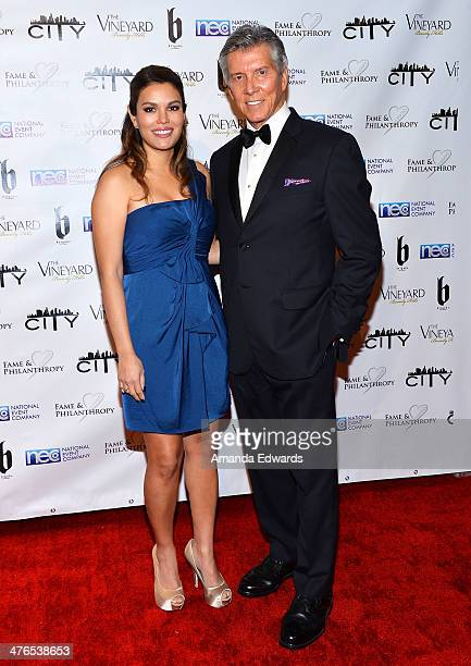 Boxing ring announcer Michael Buffer and his wife Christine Buffer arrive at the Fame Philanthropy PostOscar Party benefiting The Community Inspiring...
