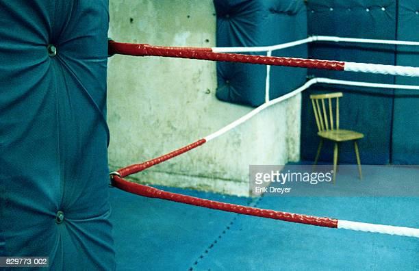 Boxing ring, close-up