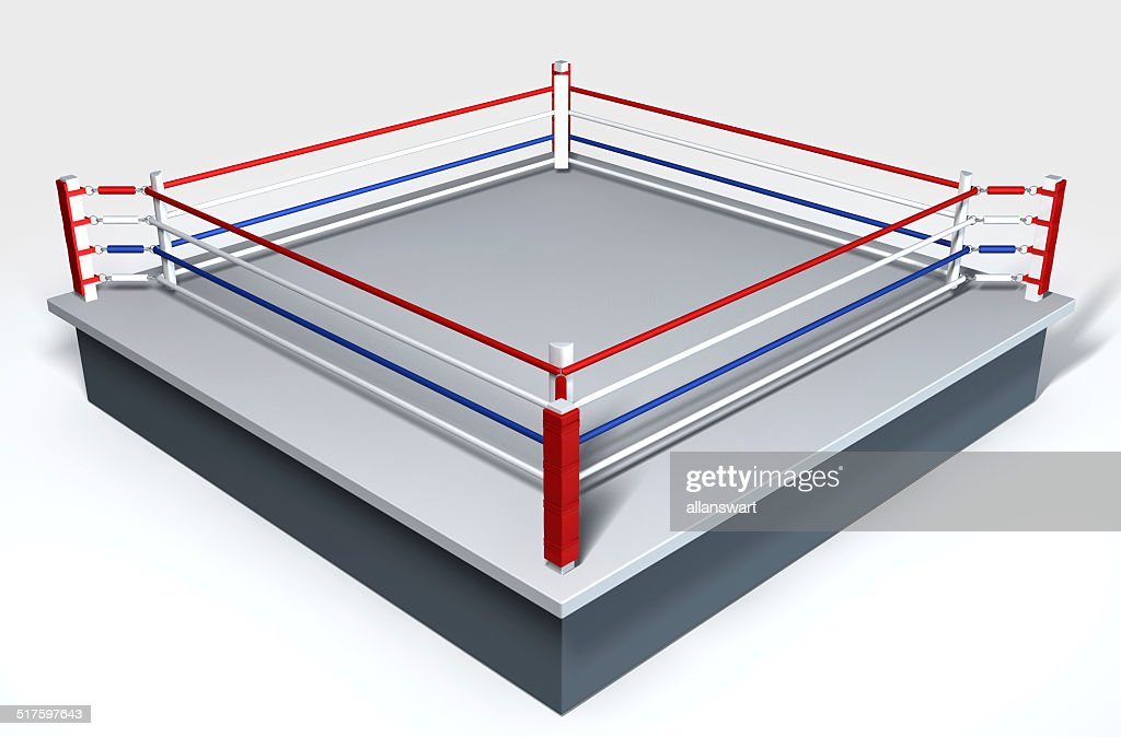Boxing ring isolated white stock photo getty images boxing ring isolated white stock photo ccuart Images