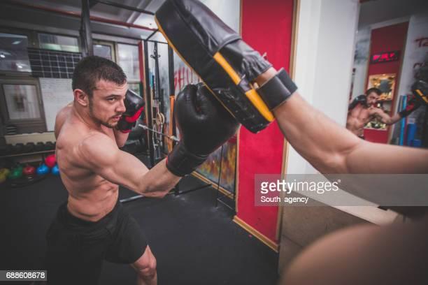Bokstraining in sportschool