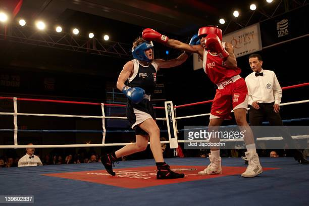US Olympic Trials Tyrieshia Douglas in action during 112 lb fight vs Virginia Fuchs at Northern Quest Resort Spokane WA CREDIT Jed Jacobsohn