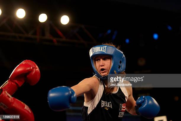 US Olympic Trials Virginia Fuchs in action during 112 lb fight vs Tyrieshia Douglas at Northern Quest Resort Spokane WA CREDIT Jed Jacobsohn