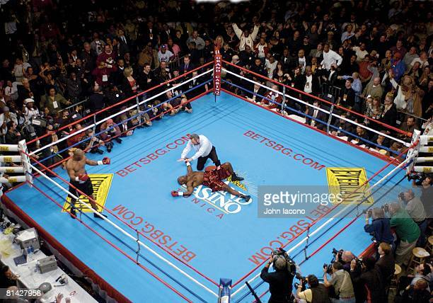 Boxing View of ring after Mike Tyson vs Clifford Etienne heavyweight fight at The Pyramid stadium Memphis TN 2/22/2003