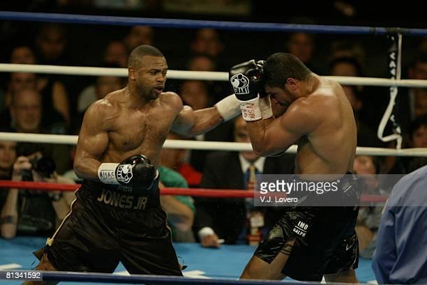 Boxing WBA Heavyweight Title Roy Jones Jr in action vs John Ruiz at Thomas Mack Center Las Vegas NV 3/1/2003
