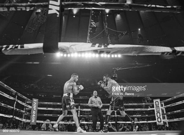 WBA Super World Lightweight Title Fight Jorge Linares in action vs Vasiliy Lomachenko at Madison Square Garden New York NY CREDIT Erick W Rasco