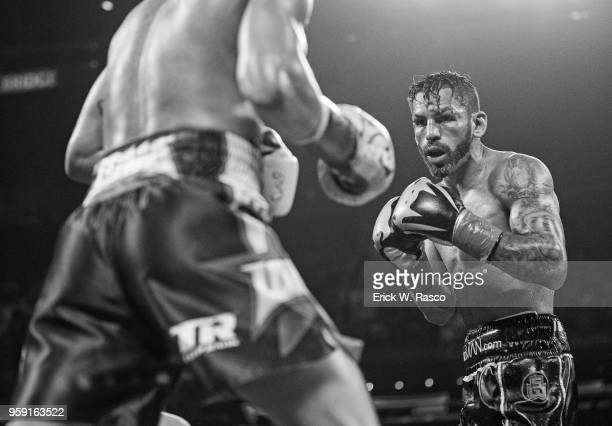 WBA Super World Lightweight Title Fight Jorge Linares in action vs Vasiliy Lomachenko at Madison Square Garden New York NY CREDIT Erick W Rasco