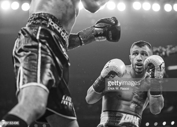 WBA Super World Lightweight Title Fight Vasiliy Lomachenko in action vs Jorge Linares at Madison Square Garden New York NY CREDIT Erick W Rasco