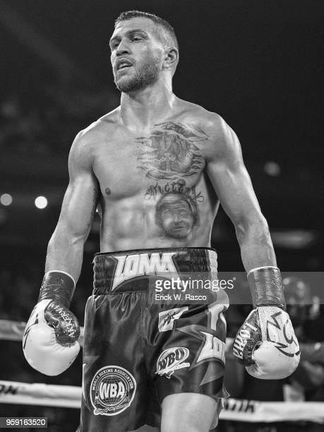 Super World Lightweight Title Fight: Vasiliy Lomachenko during fight vs Jorge Linares at Madison Square Garden. New York, NY 5/12/2018 CREDIT: Erick...