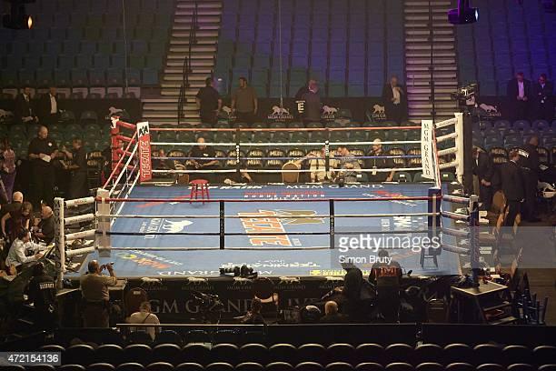 WBA Super World WBC WBO Welterweight Title View Of Empty Ring Before Floyd Mayweather