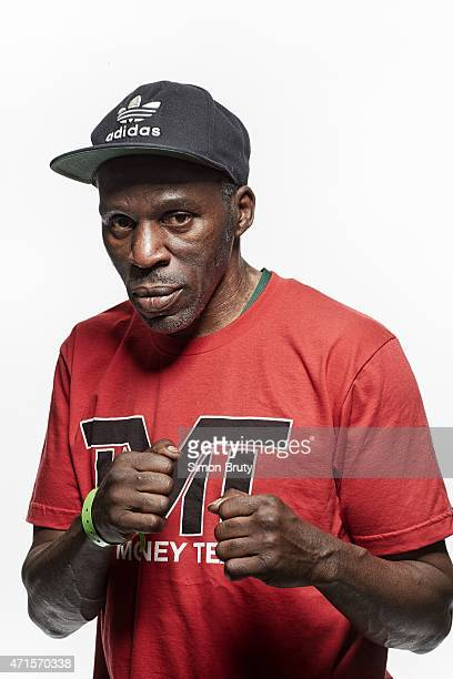 WBA/ WBC/ WBO Welterweight Title Preview Closeup portrait of Roger Mayweather uncle and assistant trainer of Floyd Mayweather Jr during training...