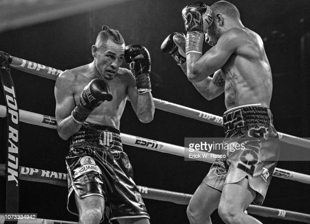 WBA / WBO Lightweight Title Jose Pedraza in action vs Vasiliy Lomachenko at Hulu Theater at Madison Square Garden New York NY CREDIT Erick W Rasco